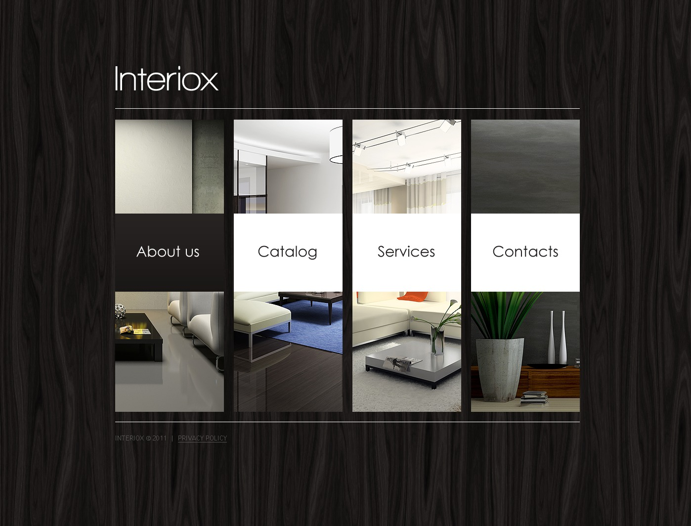 Interior Design Facebook Flash CMS Template