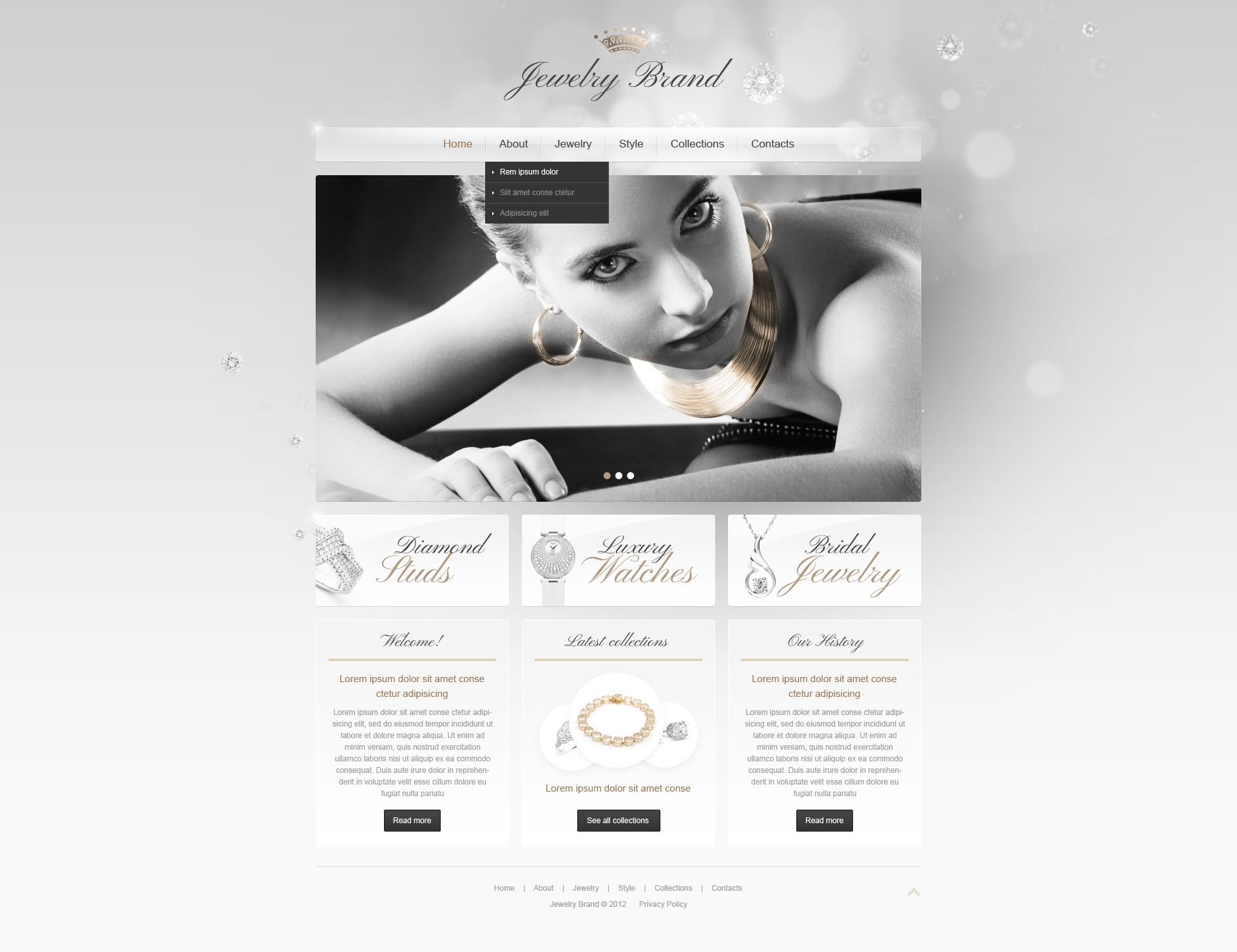 Jewelry Website Templates