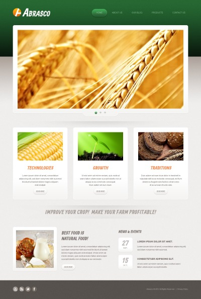 Agriculture Joomla Sablon