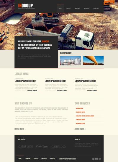 Modèle Moto CMS HTML  pour site industriel