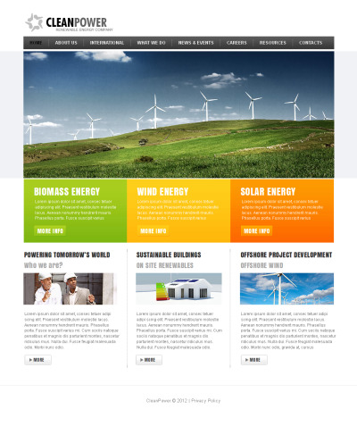 Plantilla Moto CMS HTML #41454 para Sitio de  para Sitio de Energía alternativa