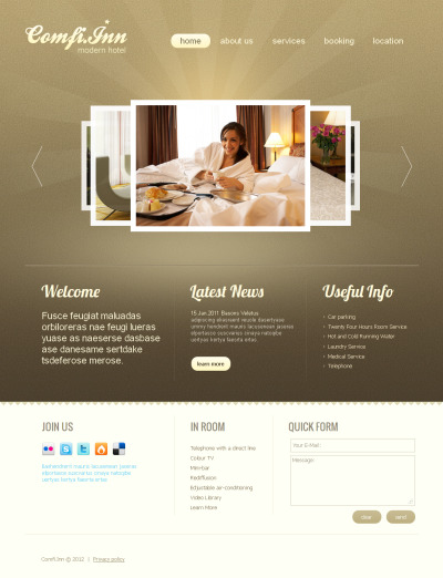 Hotels Responsive Moto CMS HTML Sablon