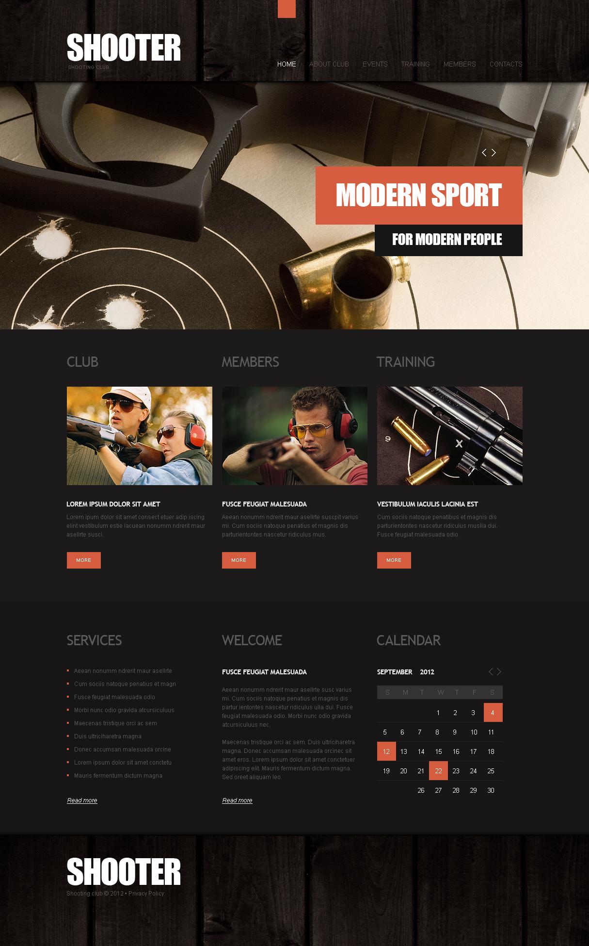Shooting Moto CMS HTML Template