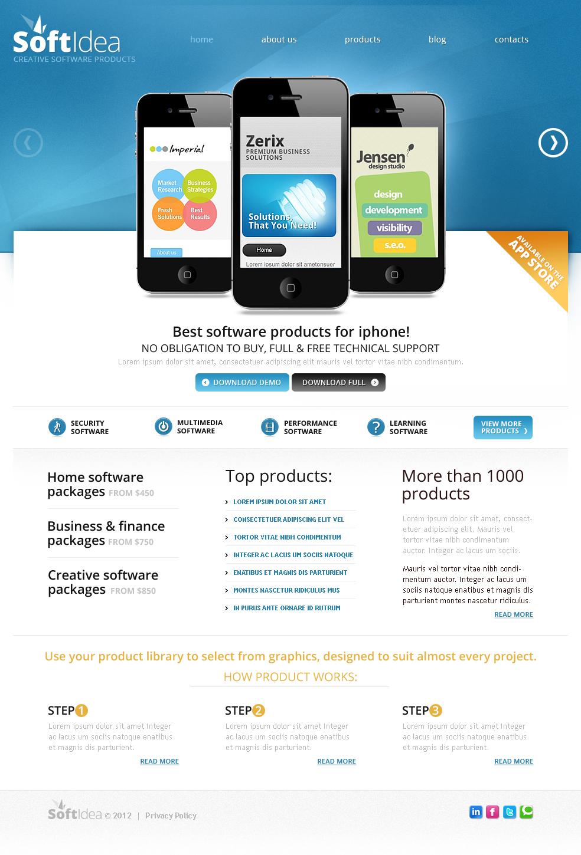 Software Company Moto CMS HTML Template