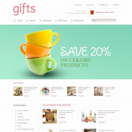 Gift Shop - OpenCart Template