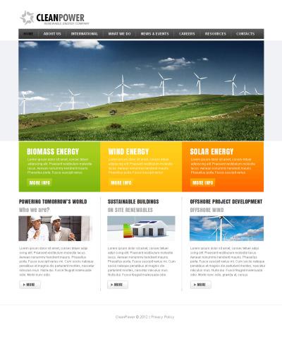 Szablon Moto CMS HTML #41454 na temat: energia alternatywna