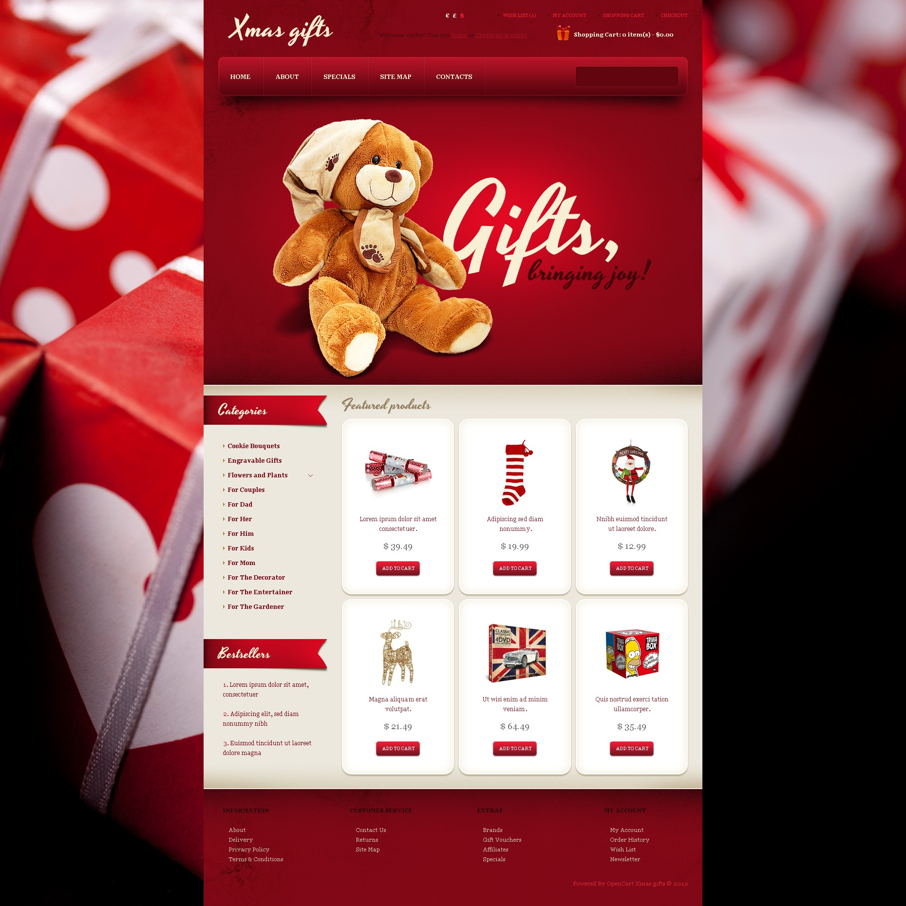 Xmas Gifts Opencart Template