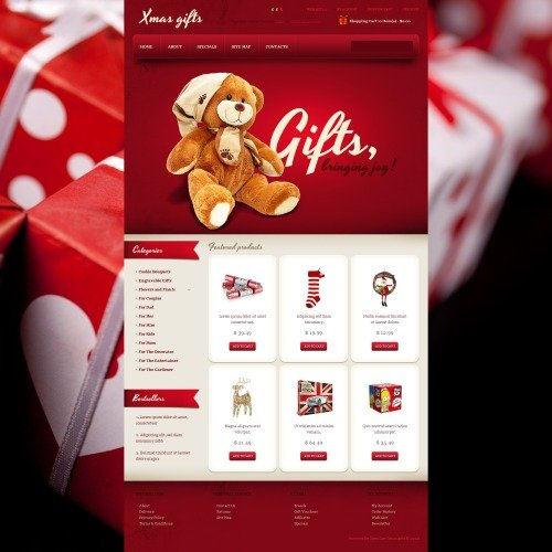 Xmas Gifts - OpenCart Template