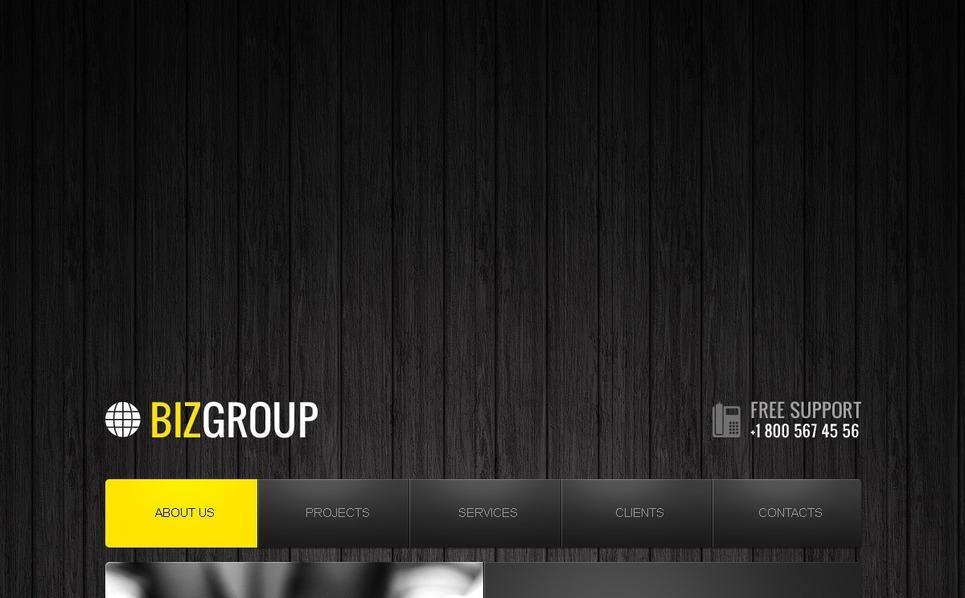 Tema Siti Web  #41505 per Un Sito di Società d'Investimento New Screenshots BIG