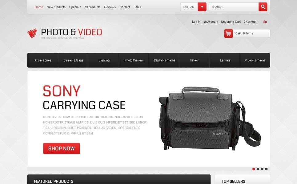 Modello ZenCart  #41513 per Un Sito di Videoteca New Screenshots BIG
