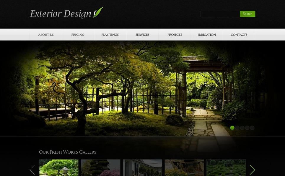 PSD шаблон на тему ландшафтний дизайн New Screenshots BIG
