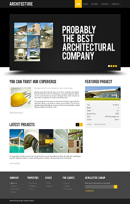 ADOBE Photoshop Template 41517 Home Page Screenshot