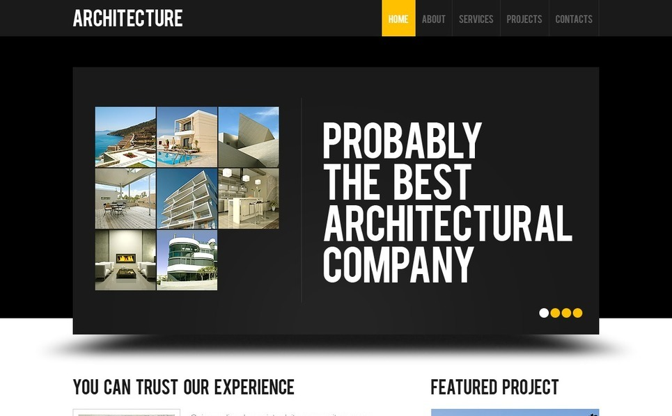 Plantilla PSD #41517 para Sitio de Arquitectura New Screenshots BIG