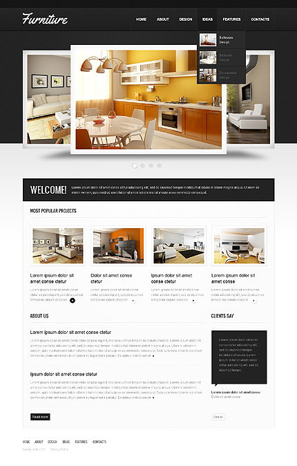 ADOBE Photoshop Template 41519 Home Page Screenshot