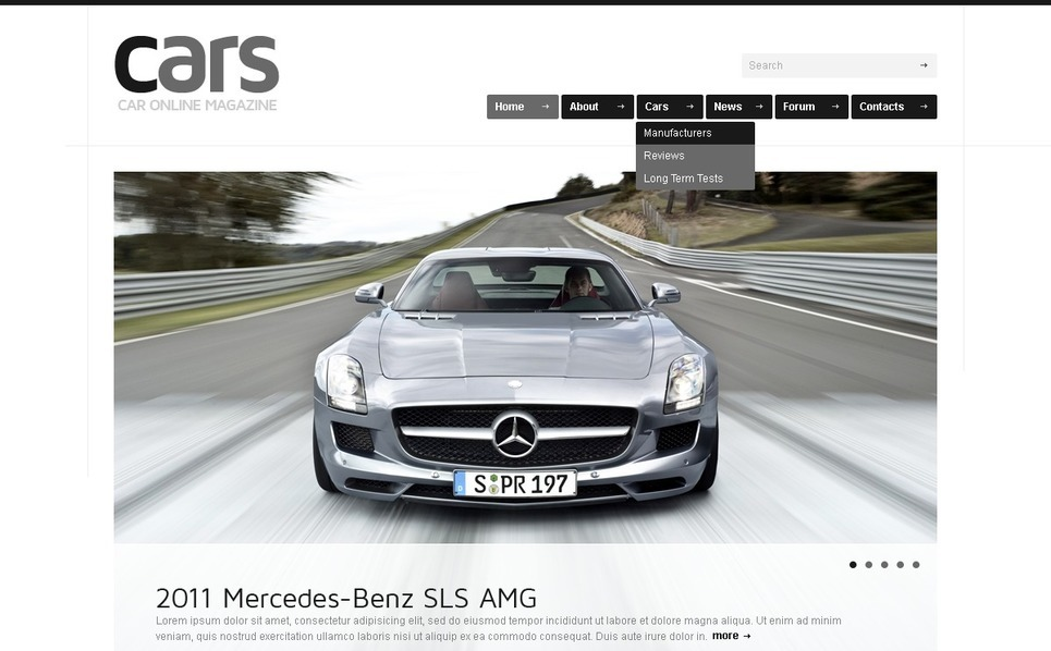 Szablon PSD #41523 na temat: samochody New Screenshots BIG