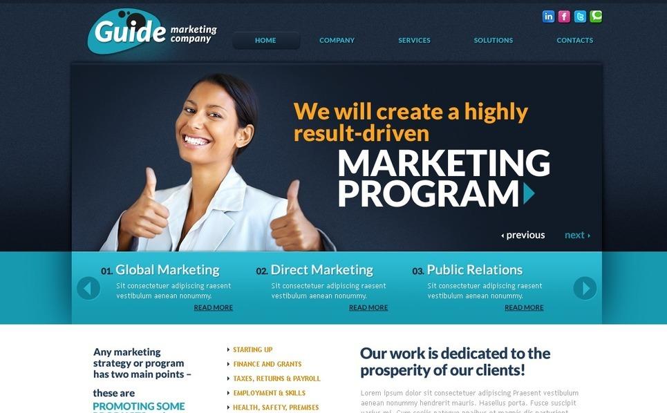 PSD Vorlage für Marketing-Agentur  New Screenshots BIG