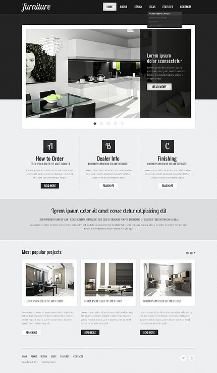 ADOBE Photoshop Template 41525 Home Page Screenshot