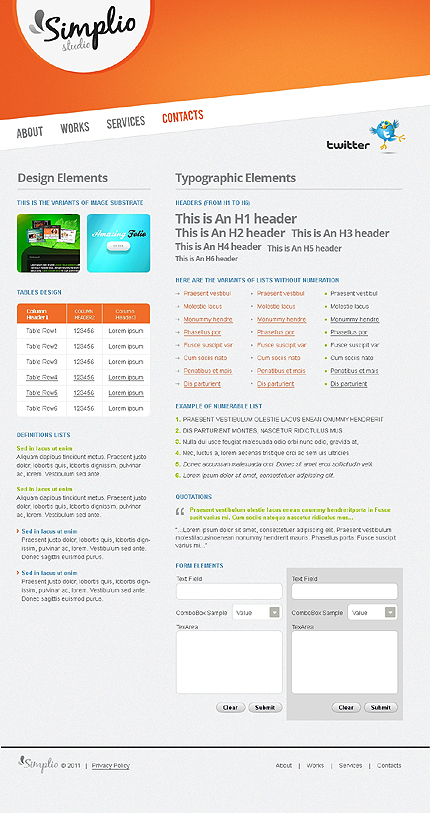 ADOBE Photoshop Template 41528 Home Page Screenshot