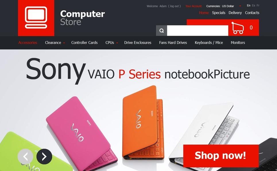 PrestaShop шаблон №41534 на тему  компьютерного магазина New Screenshots BIG
