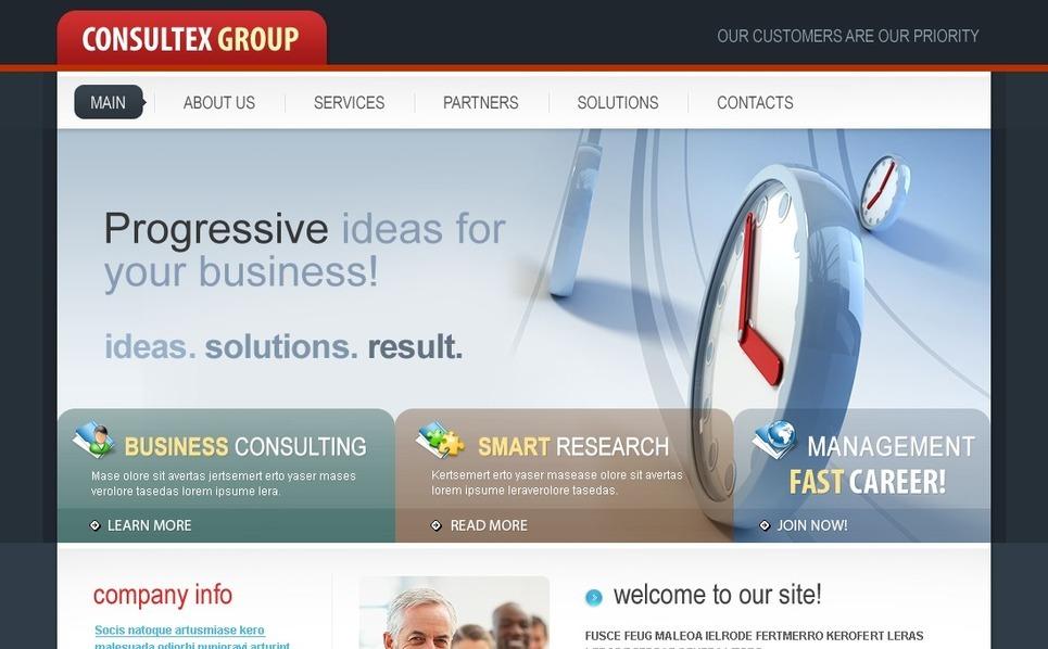 Plantilla Flash CMS #41535 para Sitio de Consultoría New Screenshots BIG