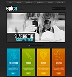 Science Flash CMS  Template 41545