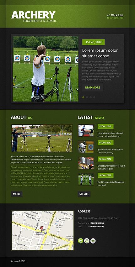ADOBE Photoshop Template 41551 Home Page Screenshot