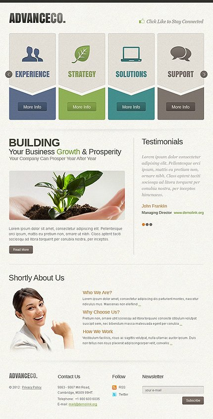 ADOBE Photoshop Template 41552 Home Page Screenshot
