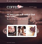 Cafe & Restaurant Website  Template 41556