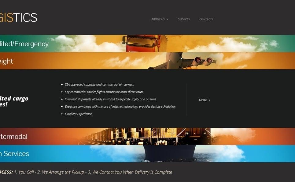 Modèle Web  pour site de services de transport New Screenshots BIG