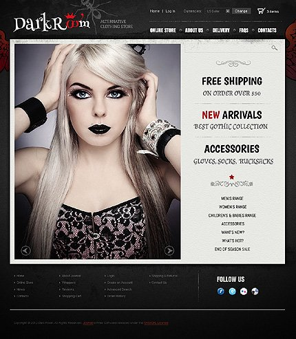 ADOBE Photoshop Template 41566 Home Page Screenshot