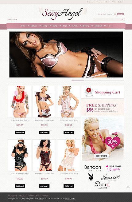 ADOBE Photoshop Template 41567 Home Page Screenshot