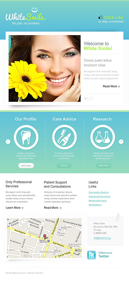 ADOBE Photoshop Template 41587 Home Page Screenshot