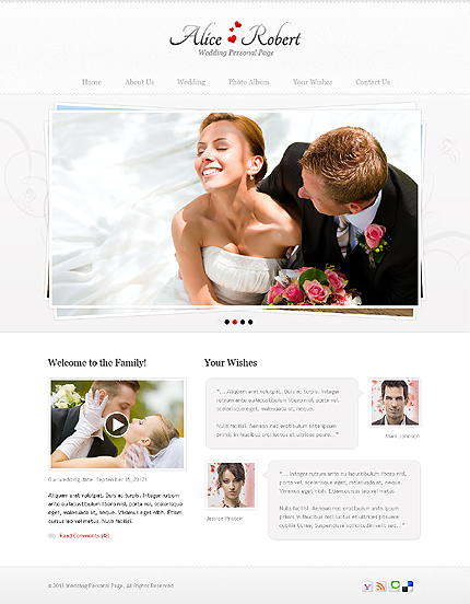 ADOBE Photoshop Template 41597 Home Page Screenshot