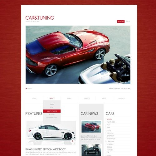 Car Tuning - Drupal Template