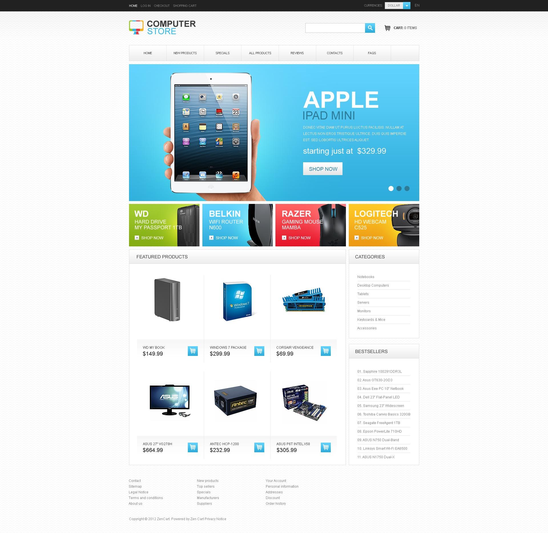 Computer Store ZenCart Template