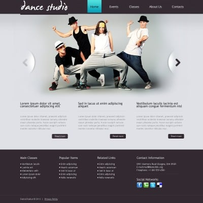 Dance Studio Drupal Template