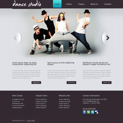 Drupal шаблон №41585 на тему танцевальная студия