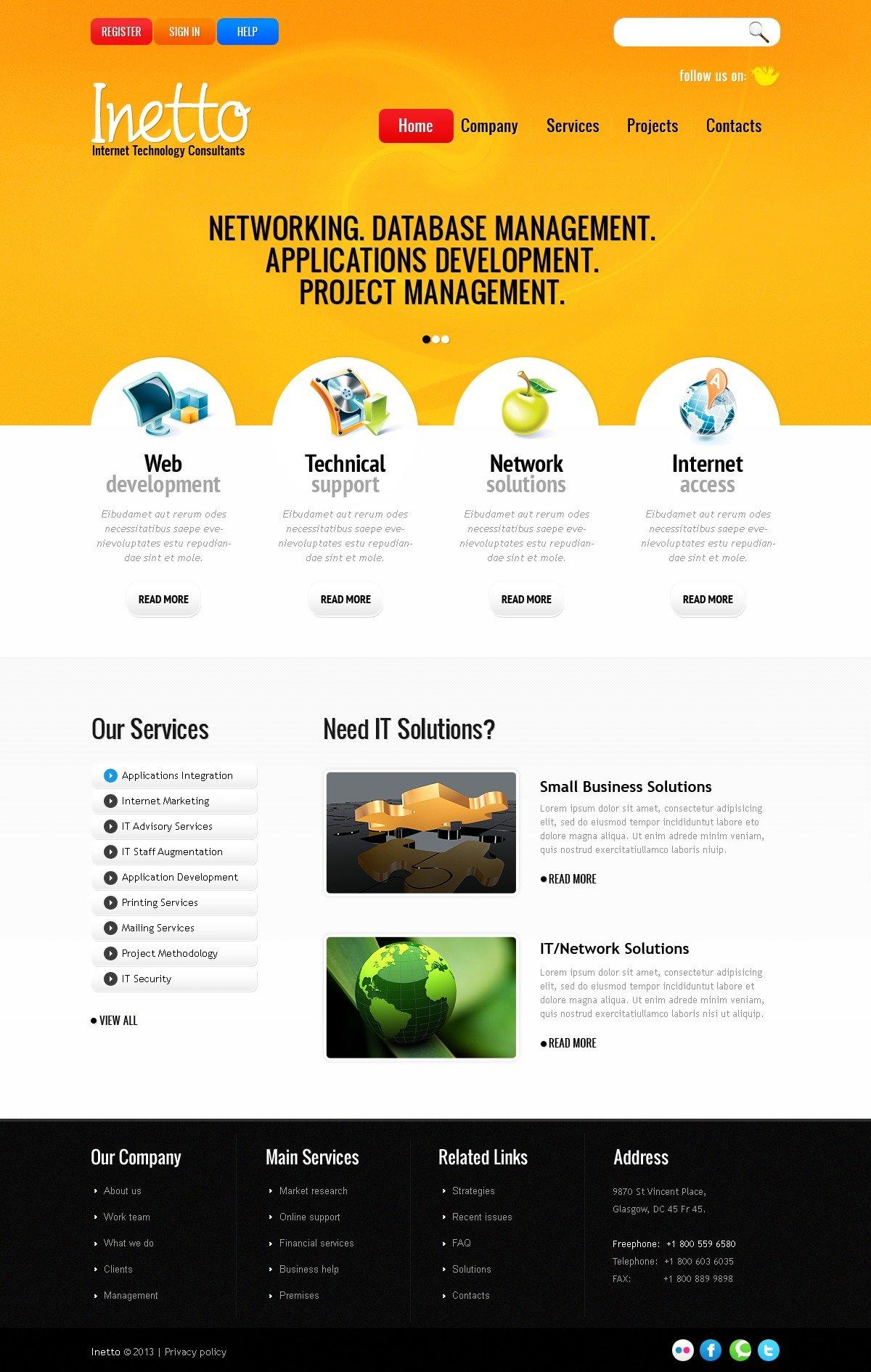 Internet PSD Template - screenshot