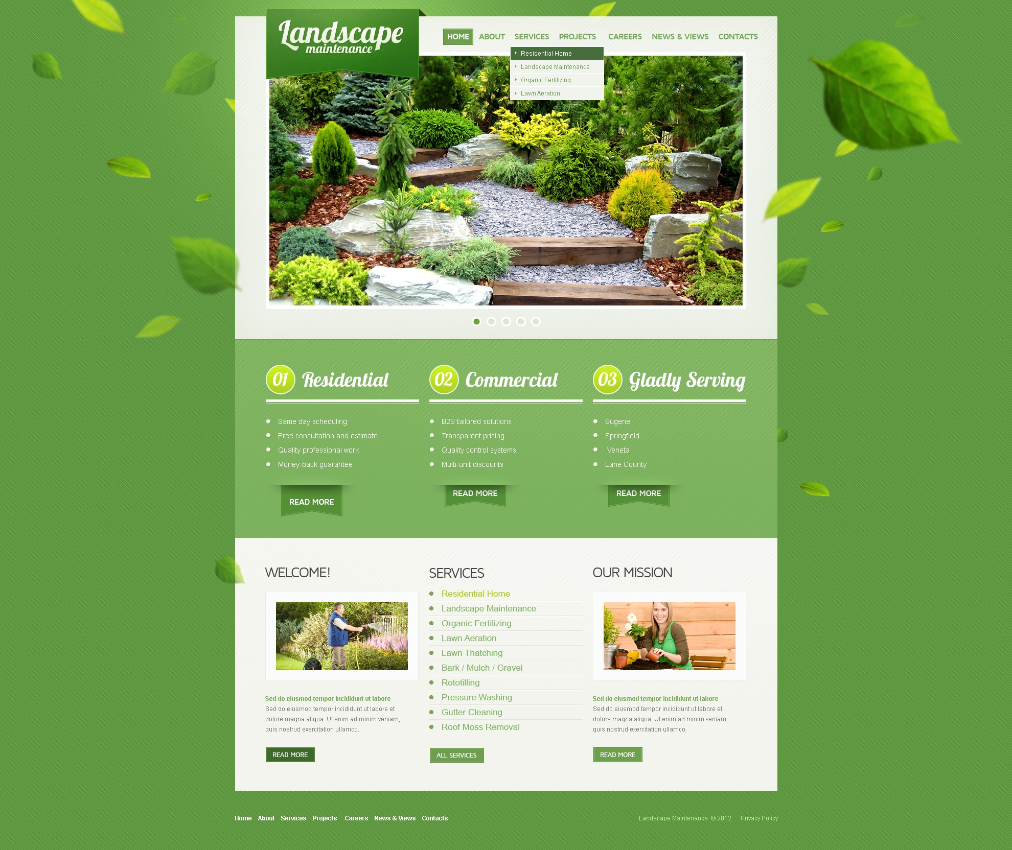 Landscape Design PSD Template - screenshot