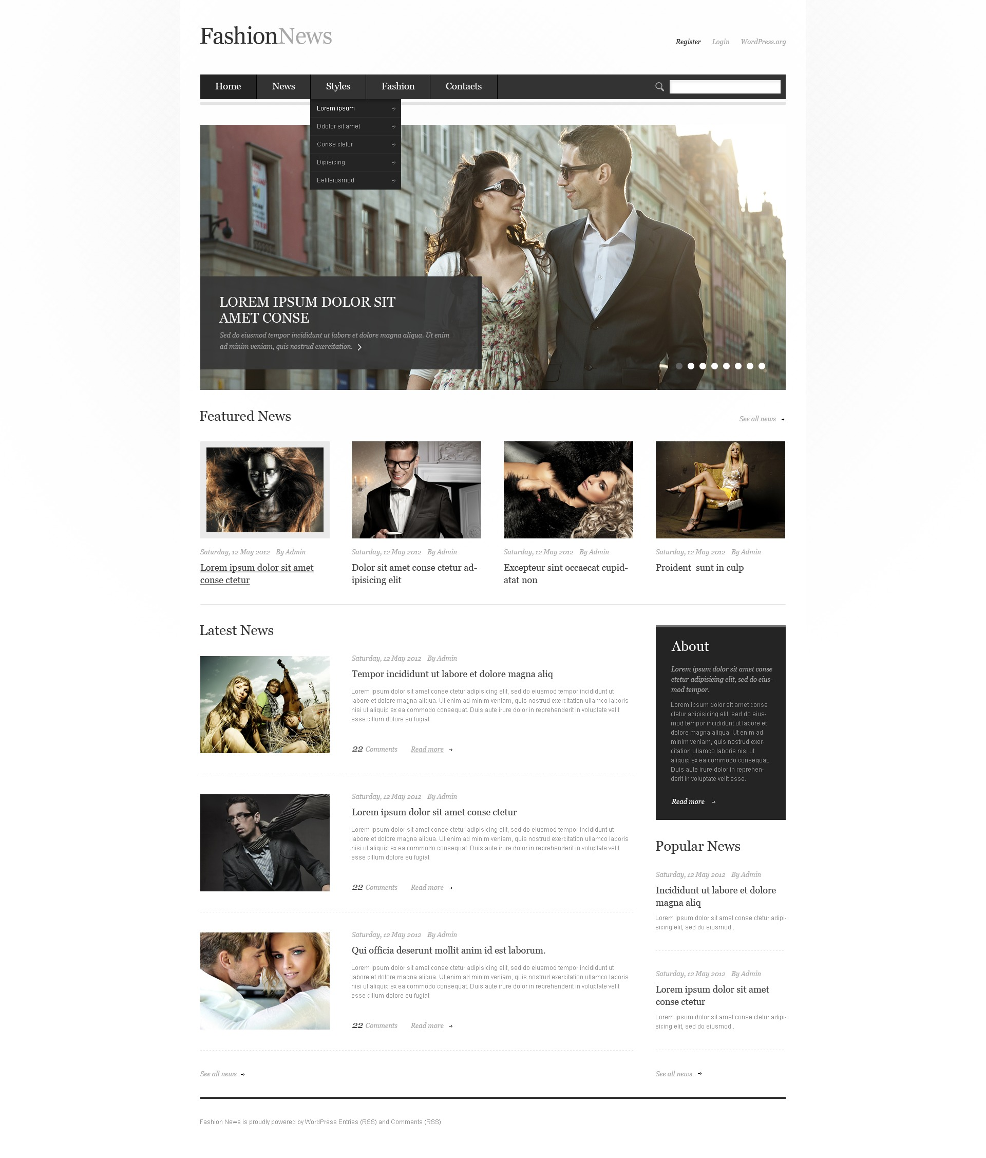 Tema De WordPress Responsive para Sitio de Moda #41530 - captura de pantalla