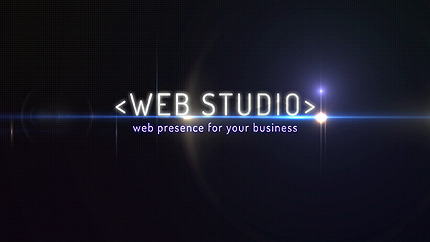 Web design  After Effects intró AE Intro Screenshot