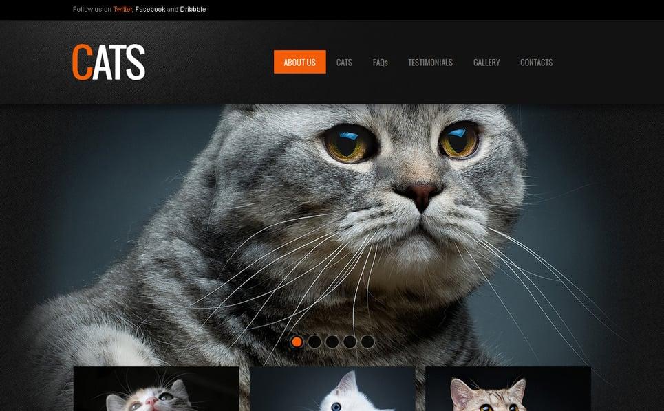 Luxusní Moto CMS HTML šablona na téma Kočky New Screenshots BIG