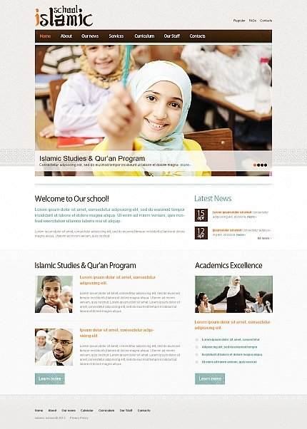 ADOBE Photoshop Template 41608 Home Page Screenshot
