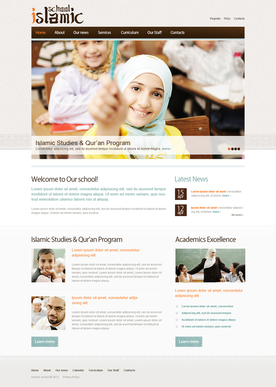 Islamic School Website Template for Academic Education - image