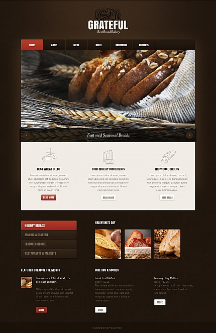 ADOBE Photoshop Template 41609 Home Page Screenshot
