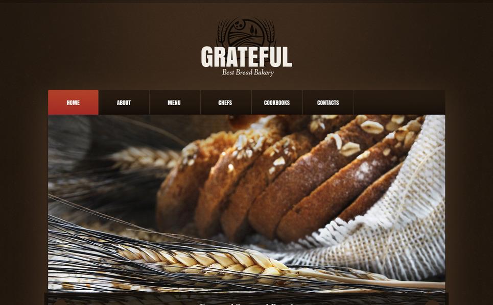 Moto CMS HTML Vorlage für Bäckerei  New Screenshots BIG