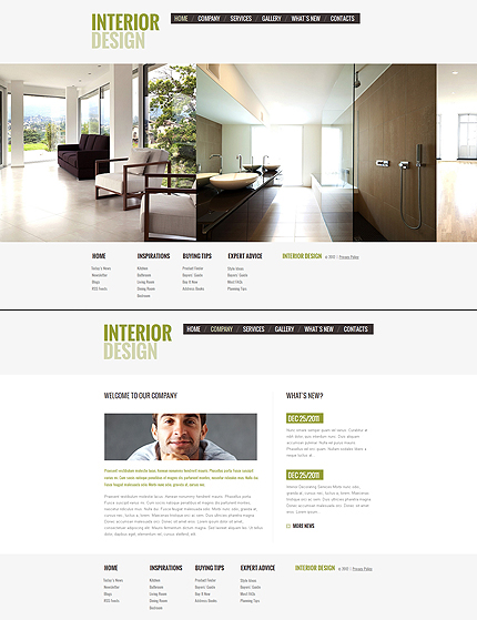 ADOBE Photoshop Template 41614 Home Page Screenshot