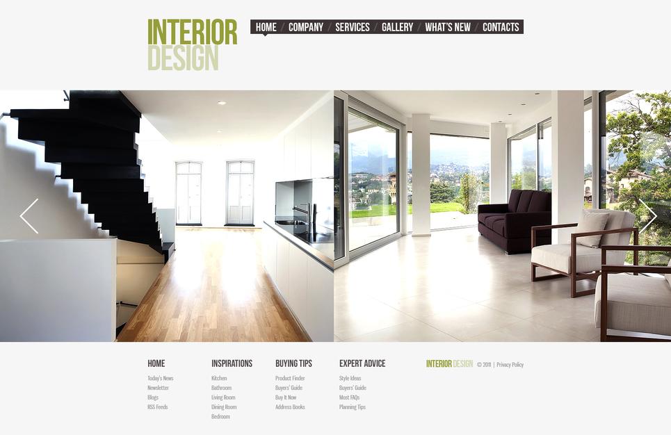 White Website Template for Interior Studio - image