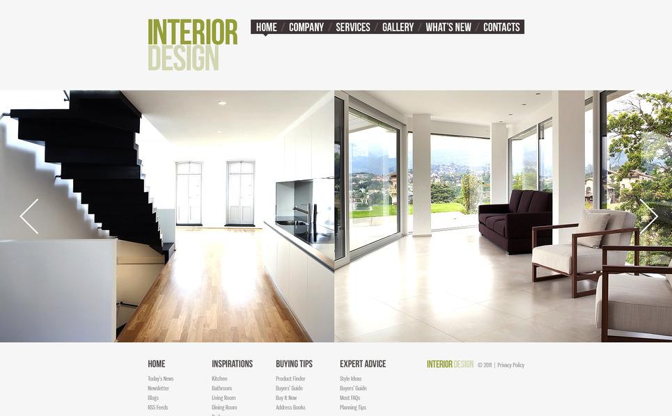 Template Moto CMS HTML  #41614 per Un Sito di Design di Interni New Screenshots BIG