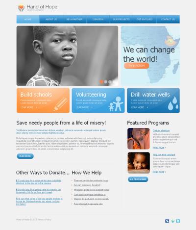 Välgörenhet Moto CMS HTML-mall
